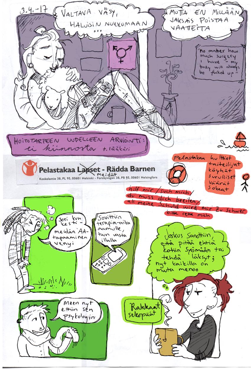 dysforia pelasta sekopää